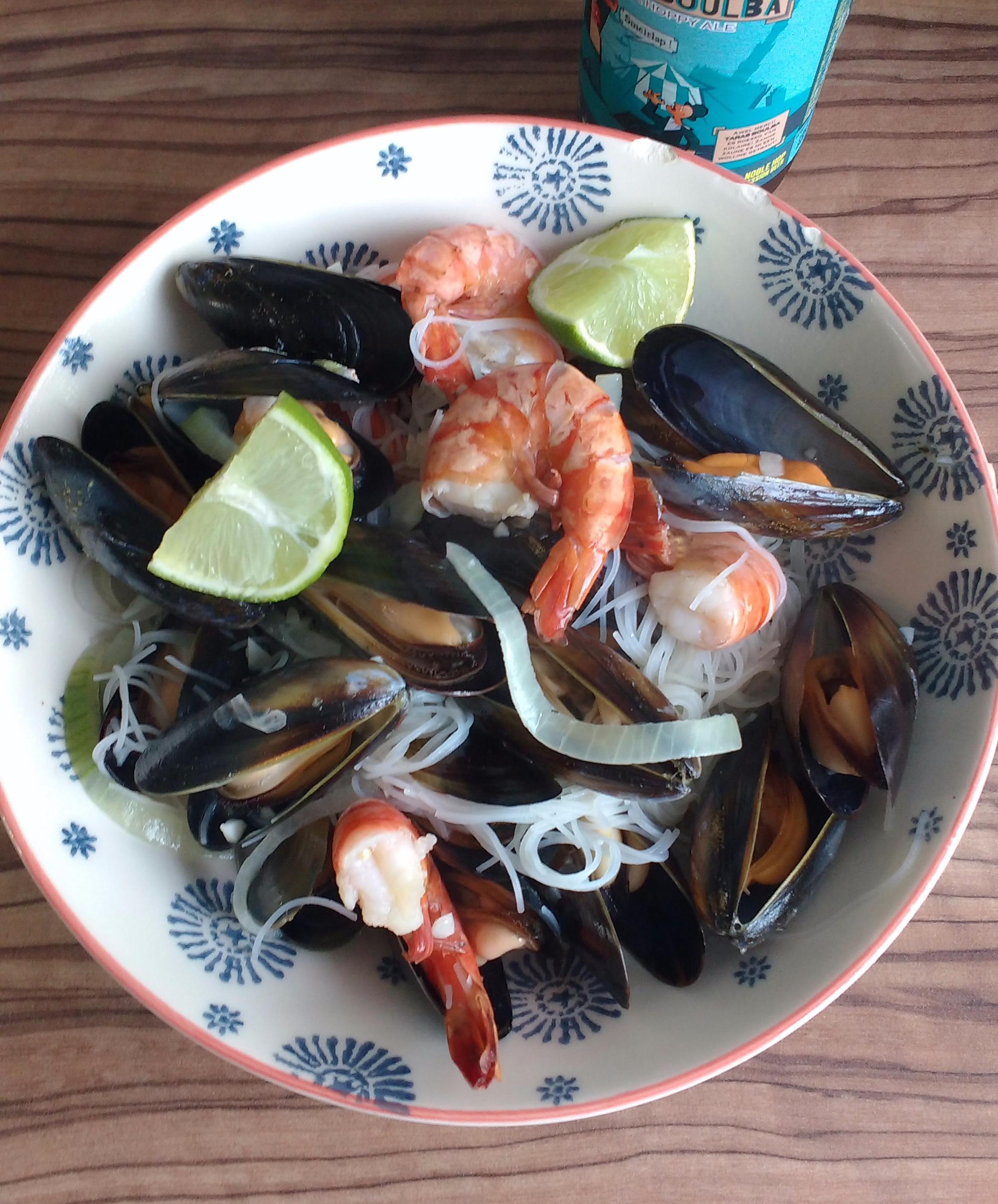 Seafood with Rice Noodles