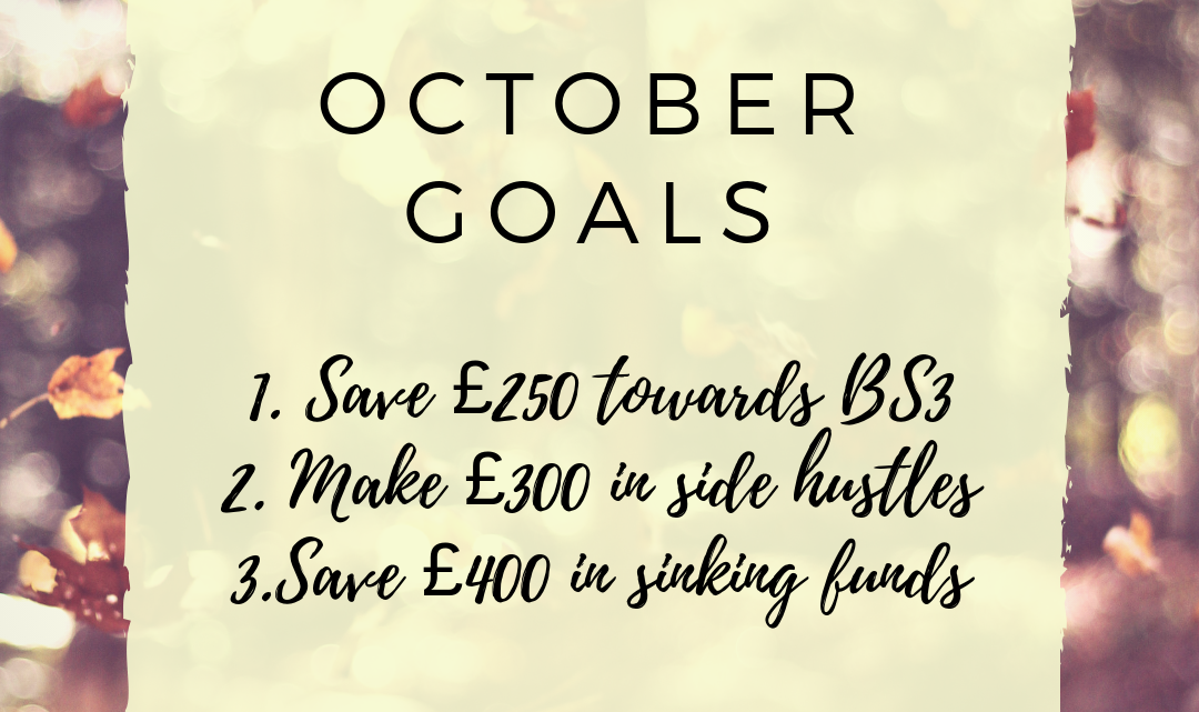 My September Round Up and October Goals