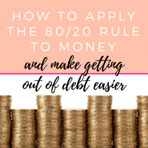 budget planning 80 20 rule