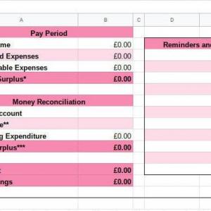 Main Tab Budget Planner