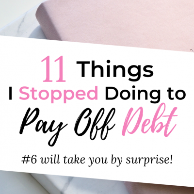 things I stopped doing to pay off debt