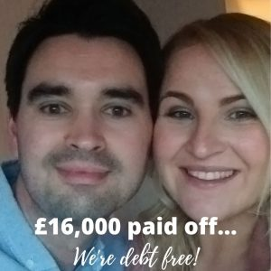 £16000 paid off, we're debt free