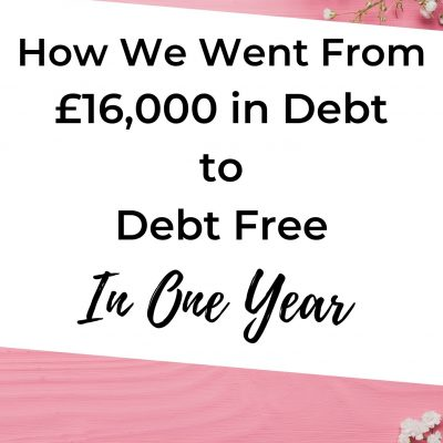 16k in debt to debt free in one year